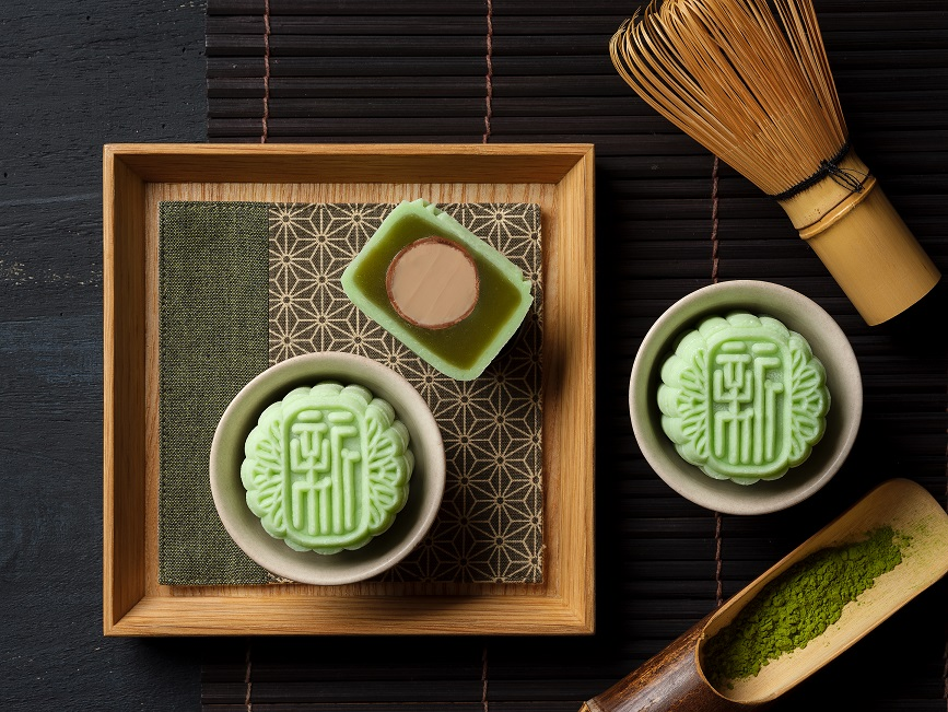 1Xin Cuisine - Green Tea Lotus Seed Paste with Baileys Cream Praline