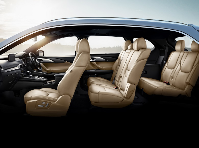 1The all-new Mazda CX-9 beige interior