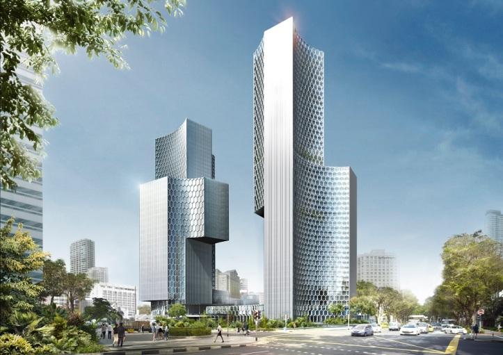 DUO building designed by Ole Scheeren