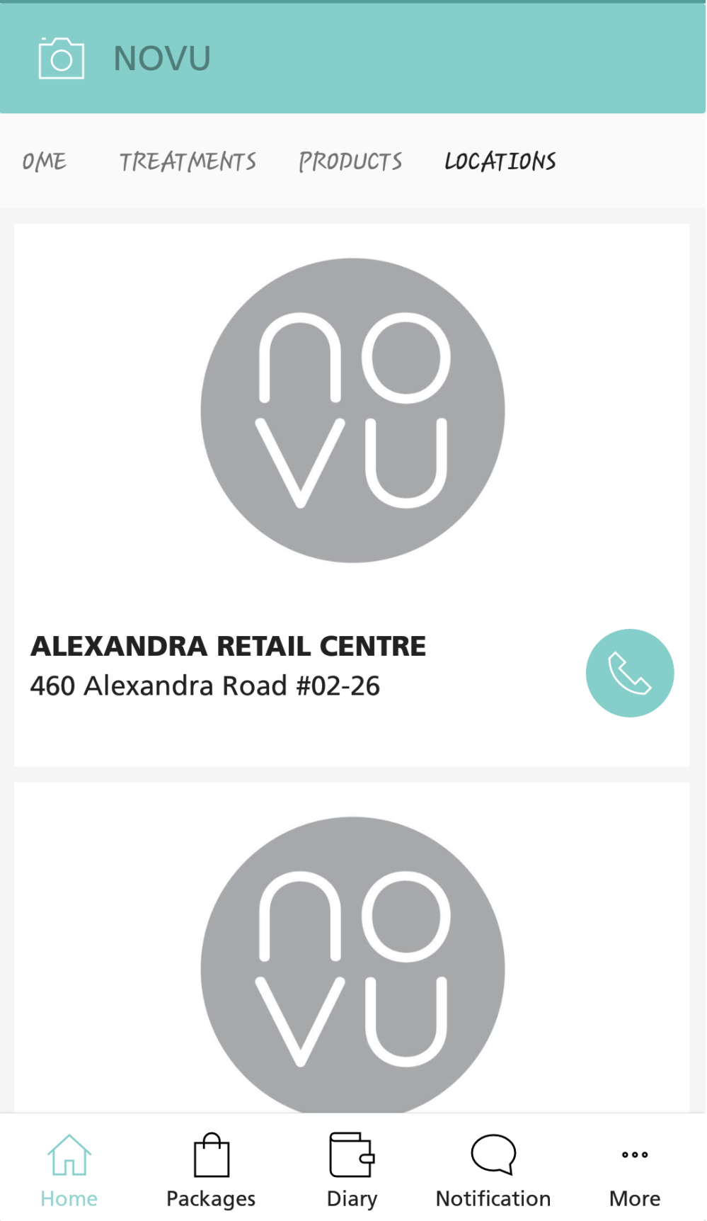 NOVU App - Clinics Info