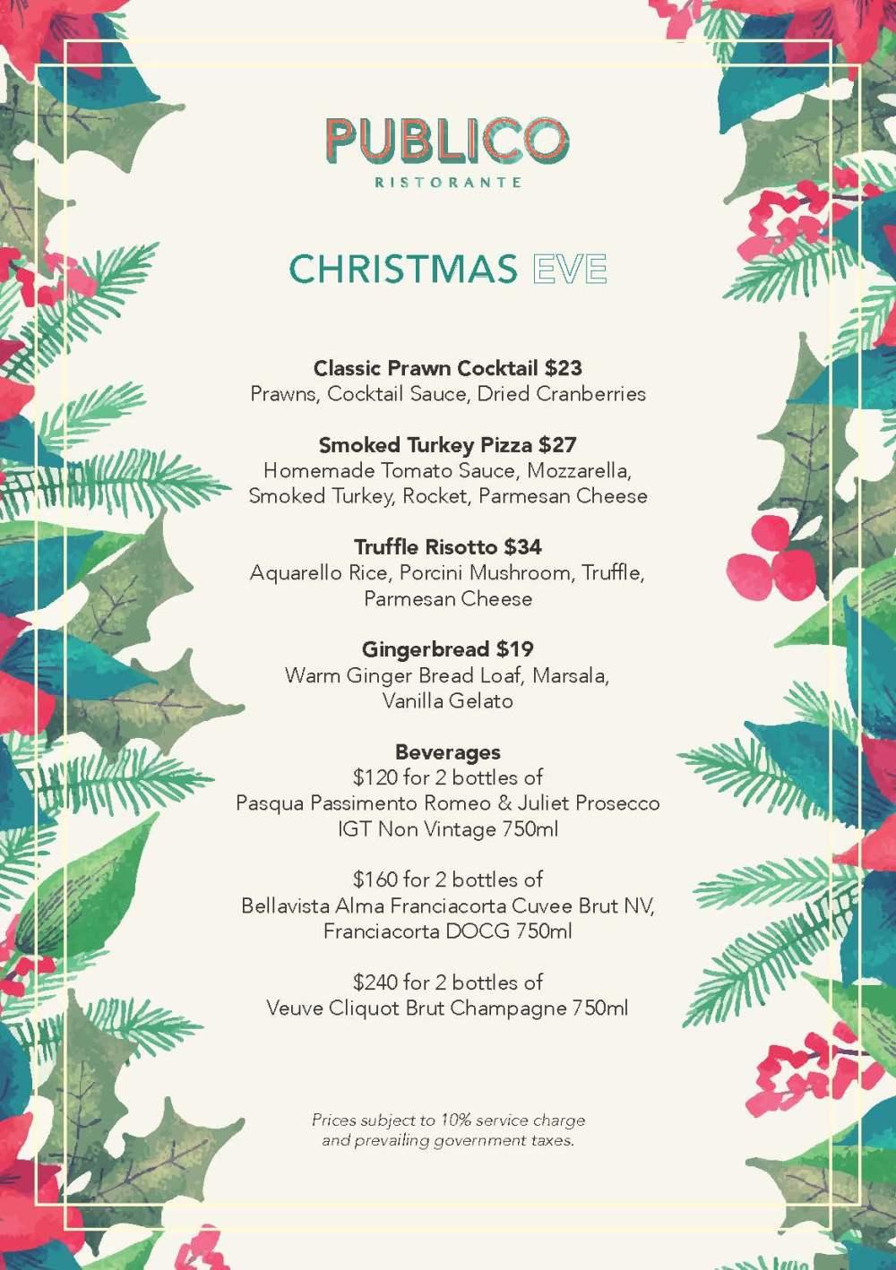 _Publico Ristorante - Additional Christmas Brunch Specials - 24th December