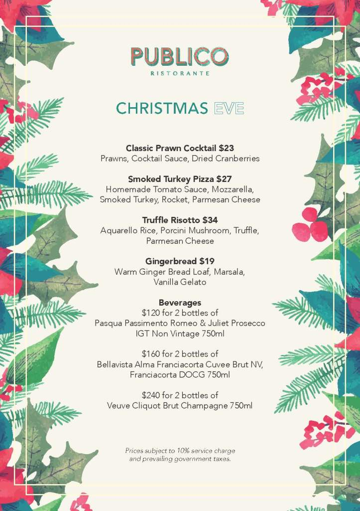 _Publico Ristorante - Additional Christmas Brunch Specials - 24th December