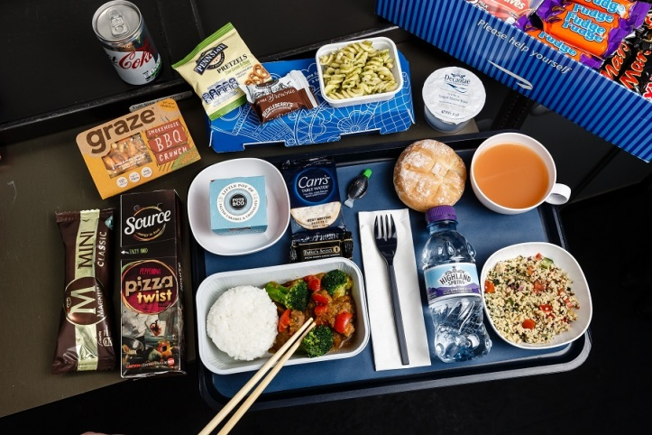 British Airways' new World Traveller catering - Japanese meal (with soft drink)