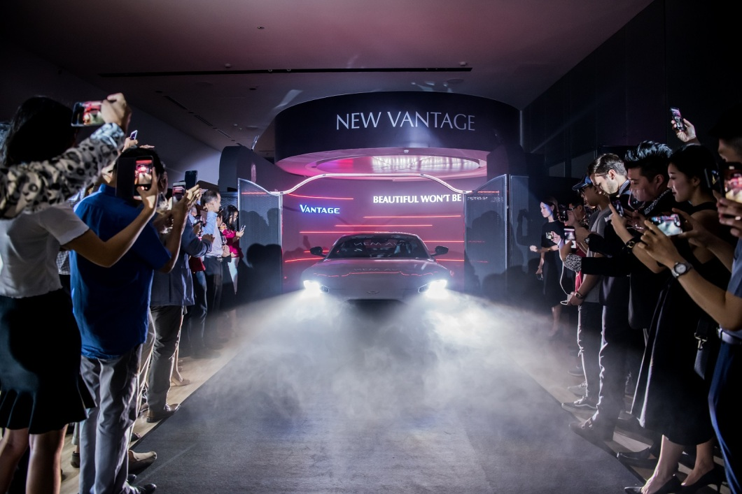 Aston Martin New Vantage makes Singapore Debut