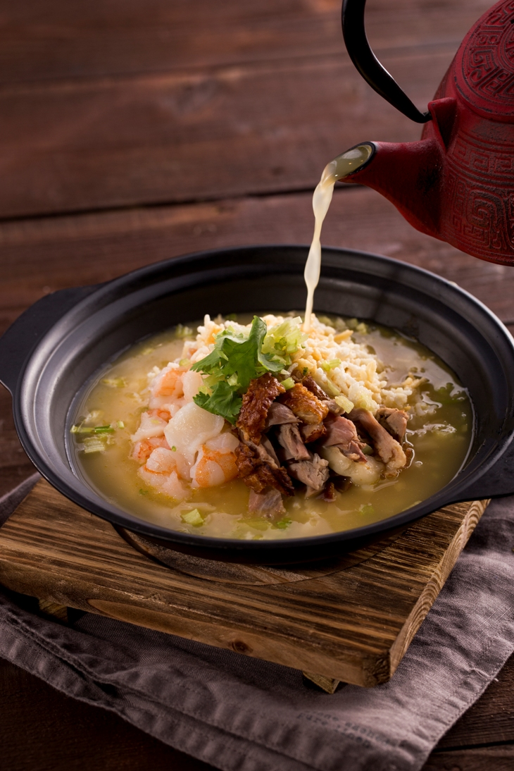 Seafood Rice in Aromatic Duck Soup