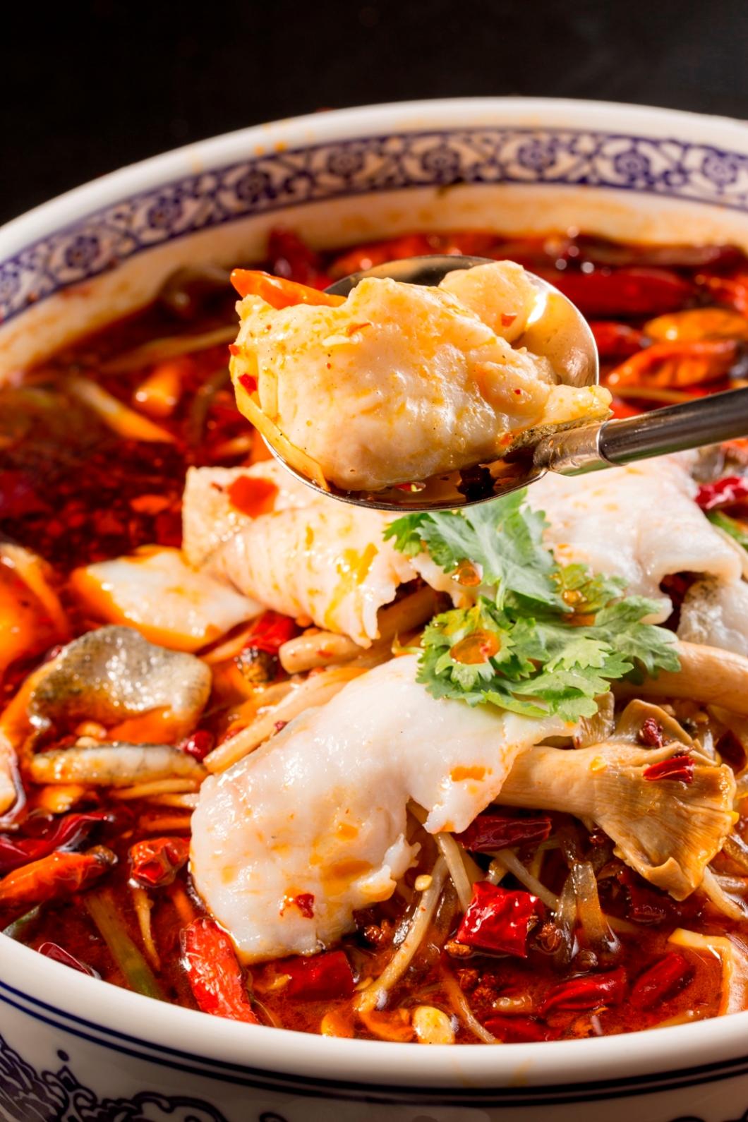 Braised Garoupa Fish Fillet in Chili Oil Soup 2