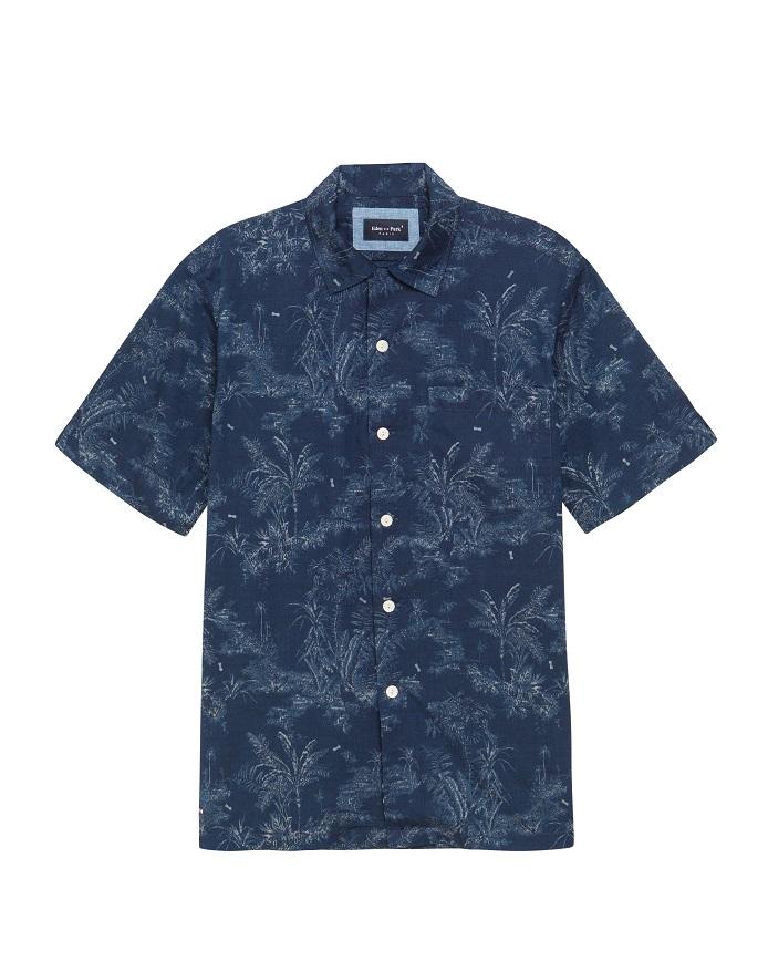 SS18 aplat BLEUE PE18 chemise 98CHECCE0026