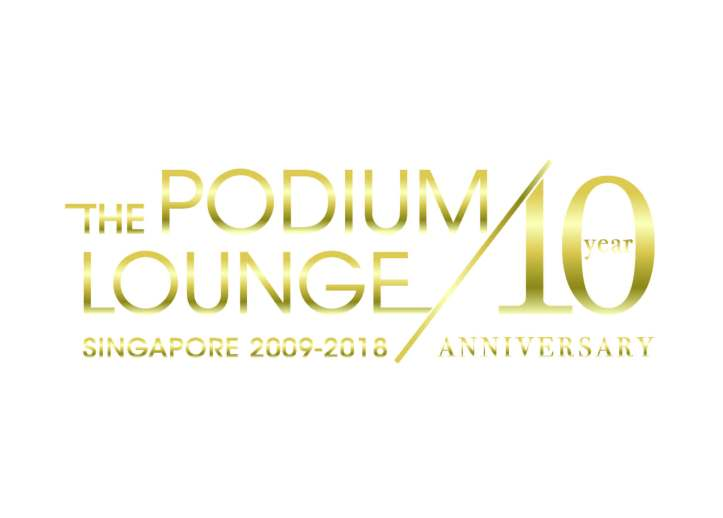THE PODIUM LOUNGE SINGAPORE - YEAR 10 ANNIVERSARY LOGO