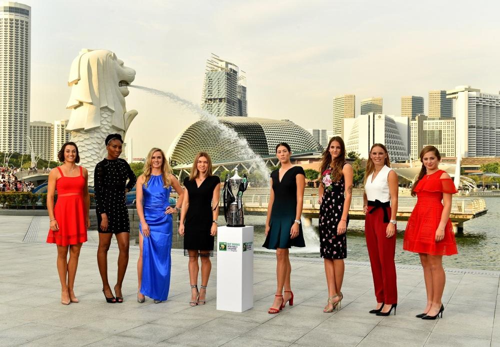 WTA Finals 2017 Singapore Iconic Photo Shoot
