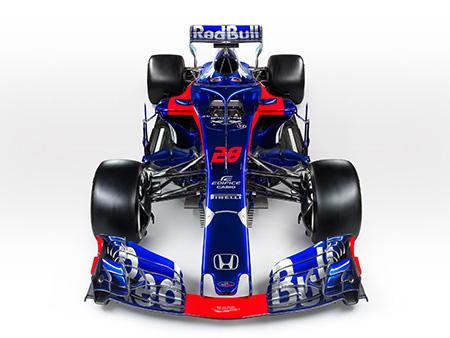 FAENZA, ITALY - FEBRUARY 22: Scuderia Toro Rosso STR13 - Car stu