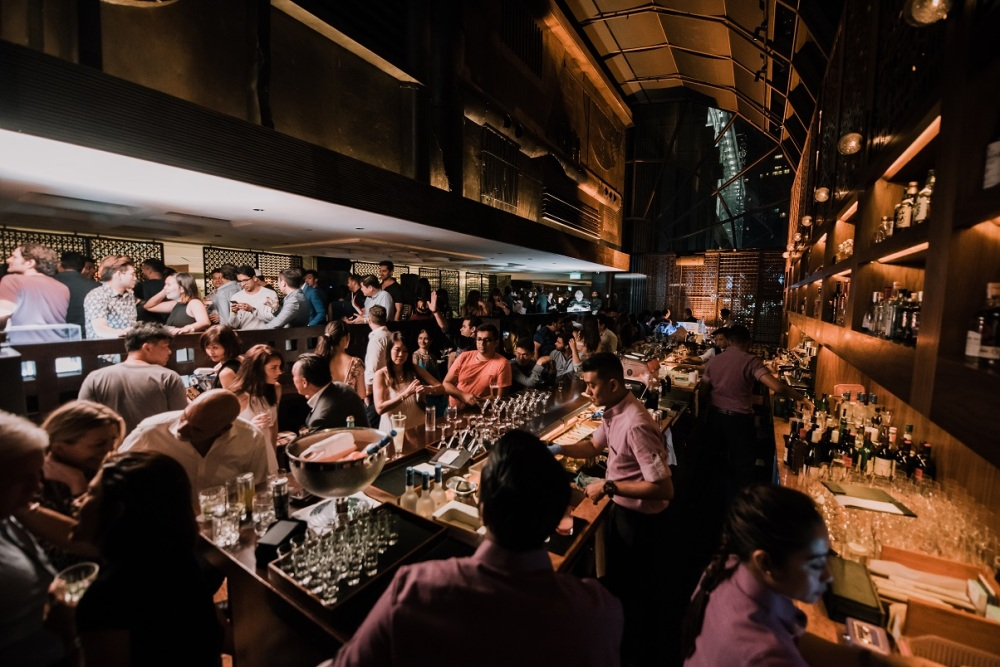 martini bar, Grand Hyatt Singapore
