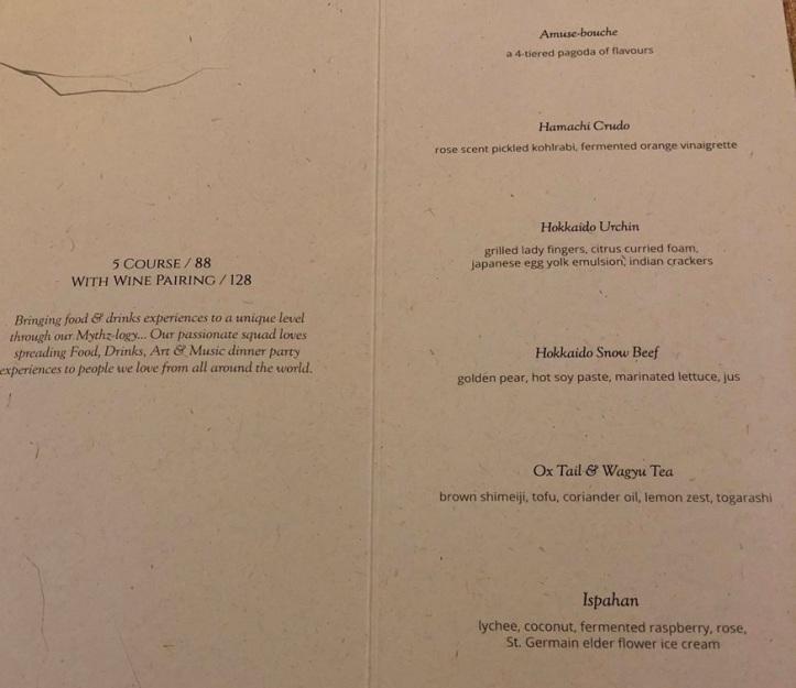 tasting menu 5