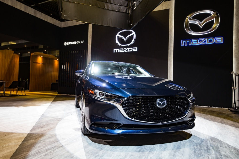 the all-new mazda3 on display at the singapore motorshow 2019a