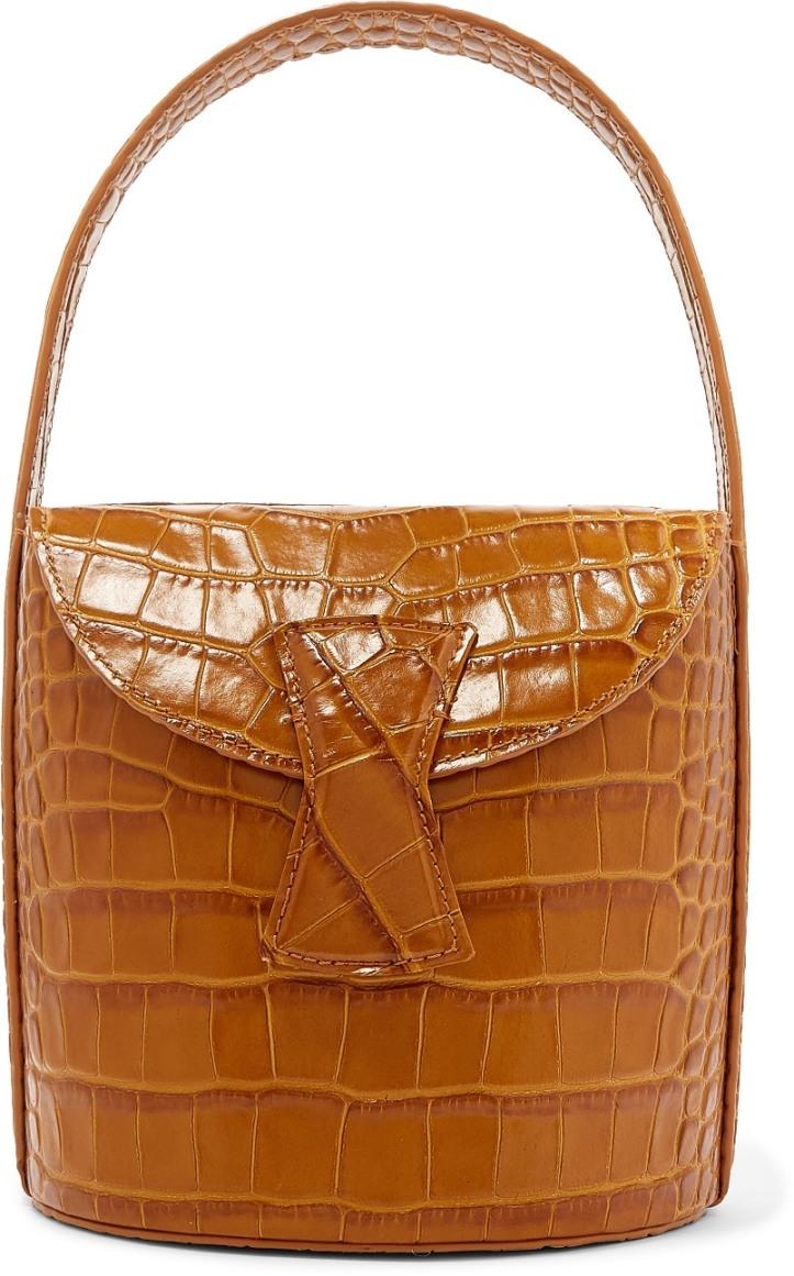 Nick croc-effect leather shoulder bag