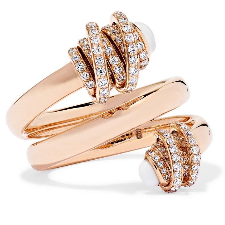 Toi et Moi 18-karat rose gold diamond ring