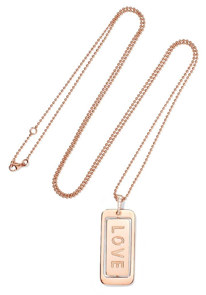 Real Love 18-karat rose gold diamond necklace