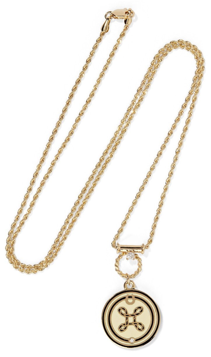 OLD PID 1085501 True Love 18-karat gold, diamond and enamel necklace