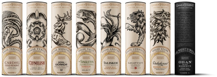 Game of Thrones Single Malt Scotch Whisky Collection_Package Design