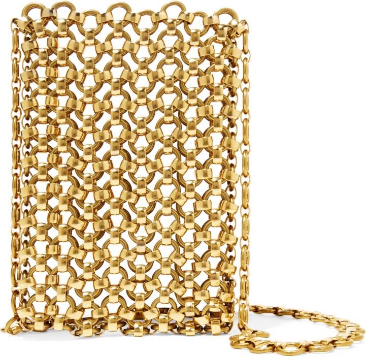 Gold-tone brass clutch