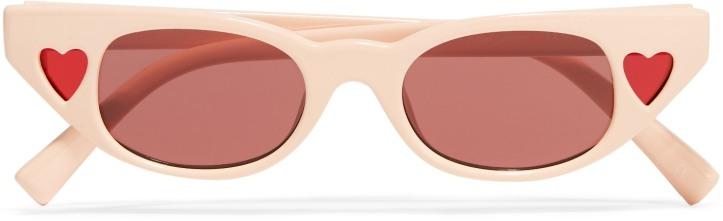 + Adam Selman The Heartbreaker cat-eye acetate sunglasses