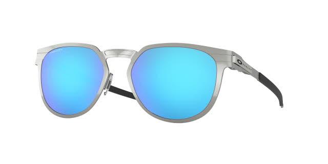 Oakley Diecutter Satin Chrome with Prizm Sapphire