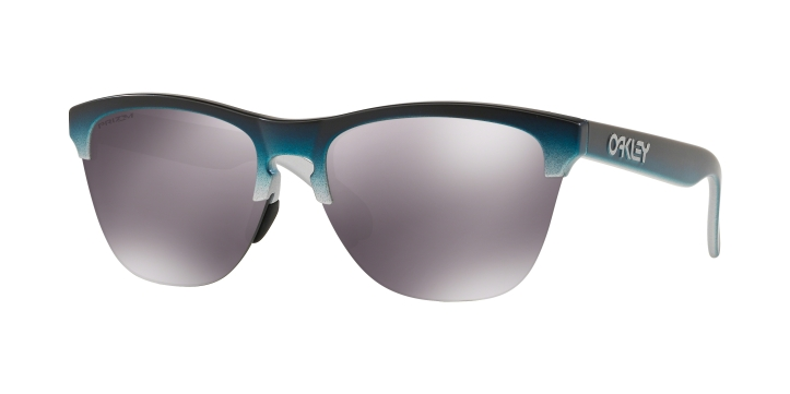 Oakley Frogskins Lite Silver Black Teal Fade With Prizm Black