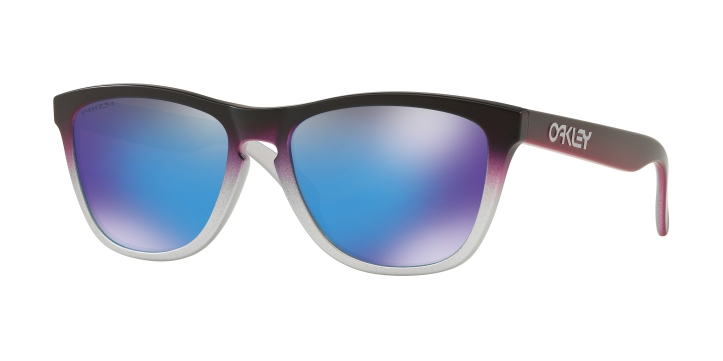 Oakley Frogskins Silver Black Pink Fade With Prizm Sapphire