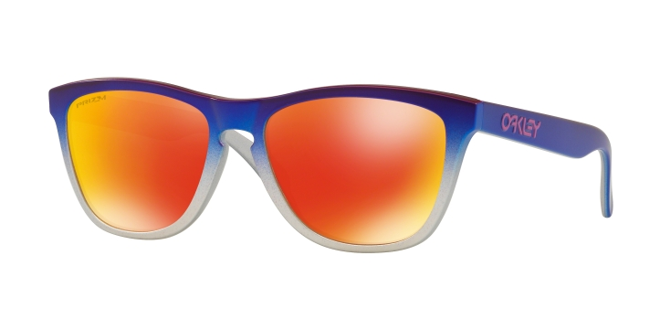 Oakley Frogskins Silver Pink Blue Fade With Prizm Ruby