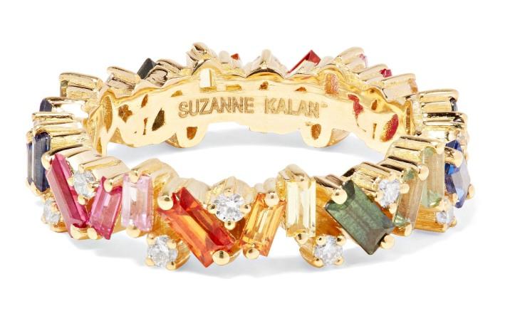 OLD PID: 1088036  18-karat gold, diamond and sapphire ring