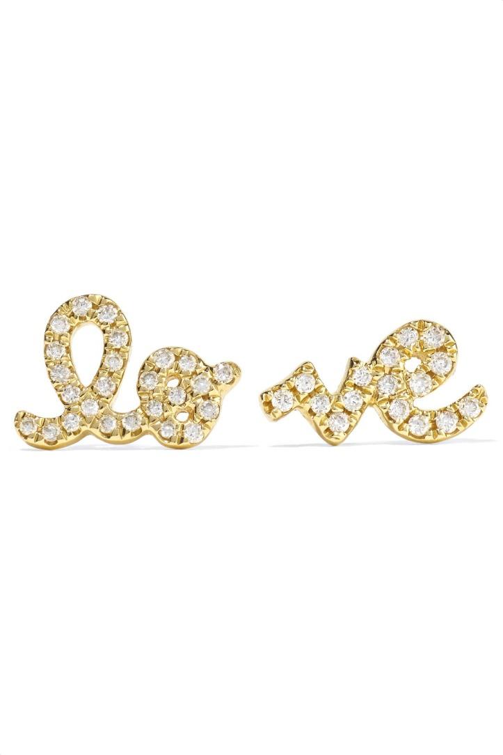 Love 14-karat gold diamond earrings
