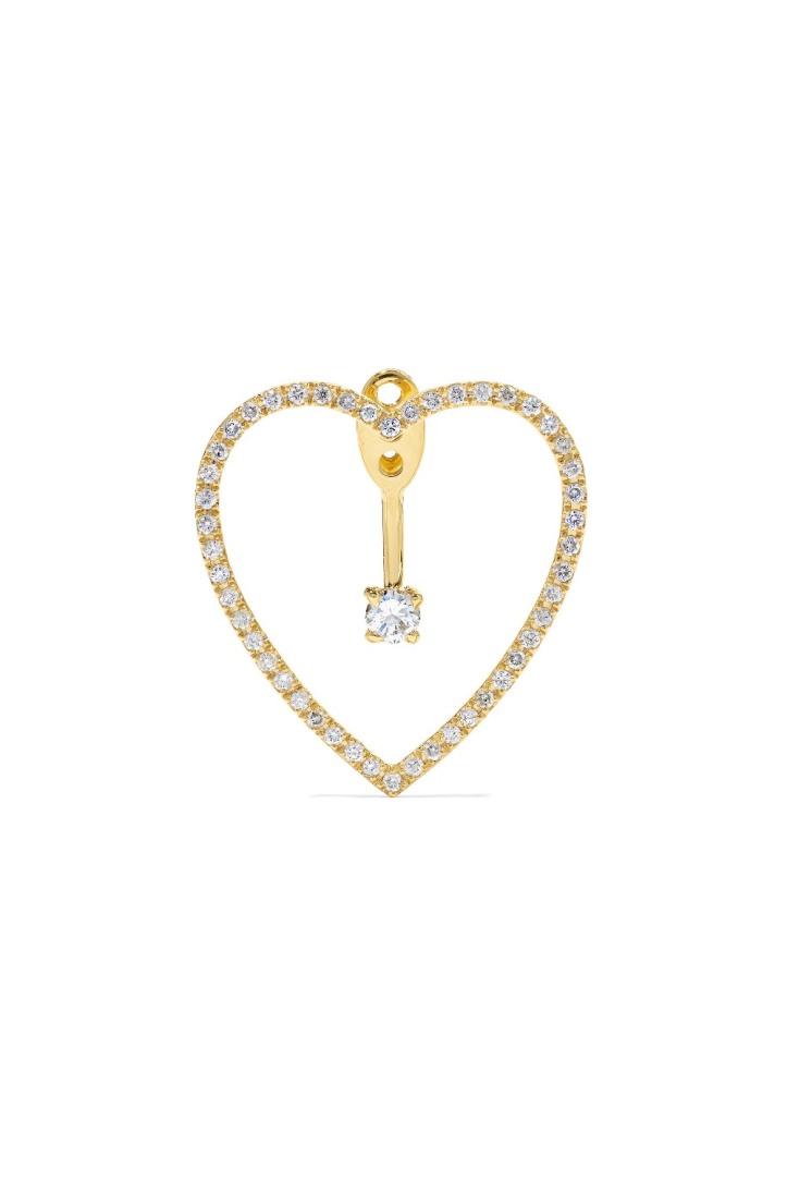 18-karat gold diamond earring
