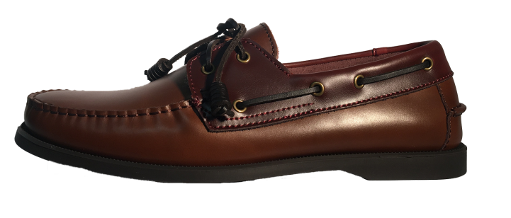 Dual Tone Leather Boat Shoes (Brown-Tan) ($89.95)