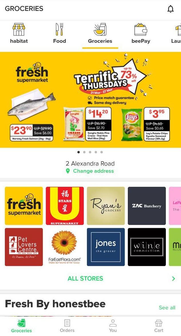 Fresh supermarket by honestbee