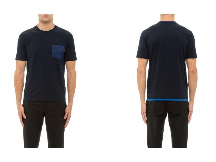 Prada Cotton Pocket Patch T-Shirt, SGD760
