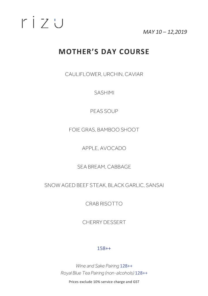 MOTHERS DAY COURSE (MAY 10-12, 2019)