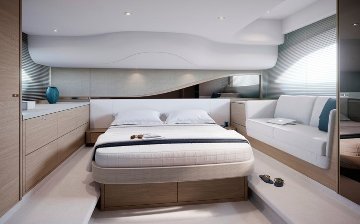 Princess F45 Interior Owners Stateroom