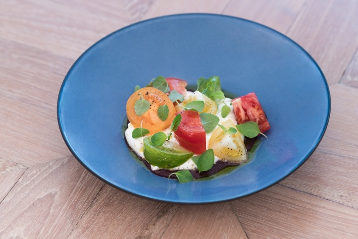 BURRATINA WITH HEIRLOOM TOMATO
