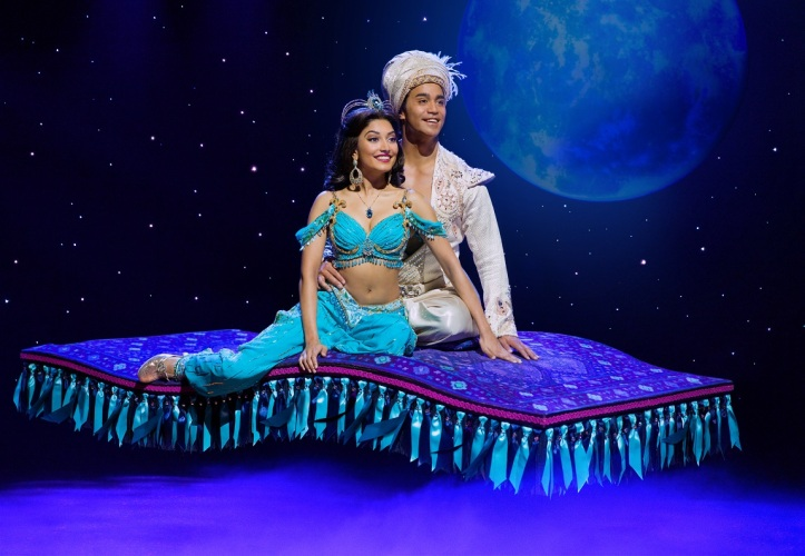 (Flying Carpet) Graeme Isaako as Aladdin with Shubshri Kandiah as Jasmine - James Green