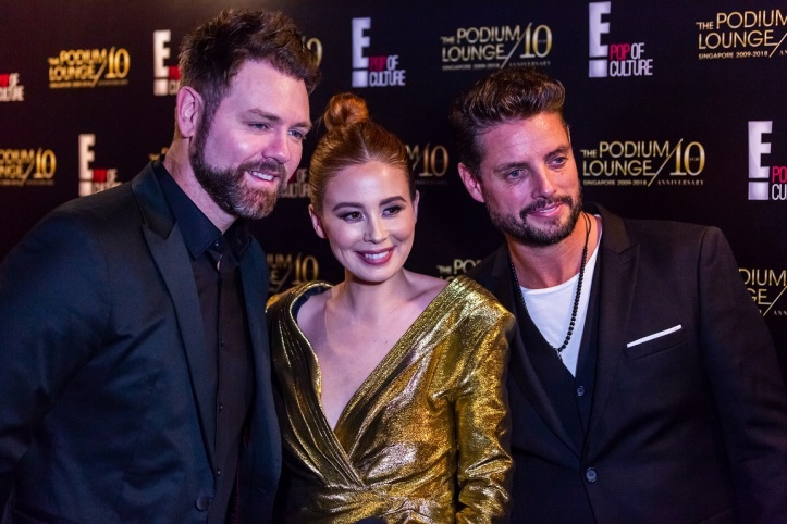 Brian McFadden, Yvette King and Keith Duffy on The Podium Lounge 2018 Red Carpet