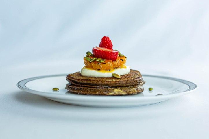 1Spiced Buckwheat and Pumpkin Pancakes