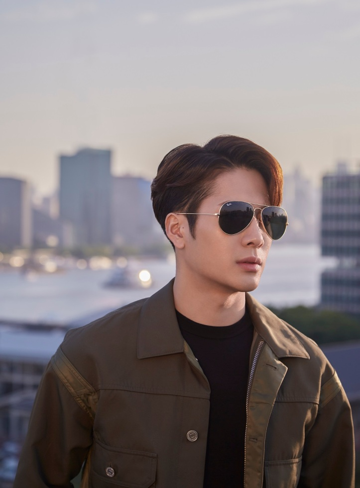 Ray-Ban Global Brand Ambassador Jackson Wang in the classic Ray-Ban Aviator.jpg
