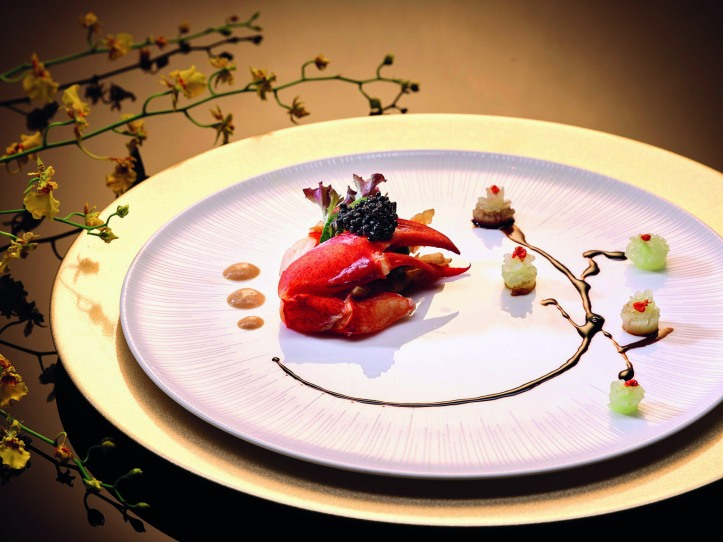 Sauteed Boston Lobster with Japanese Mustard Light Soya Sauce