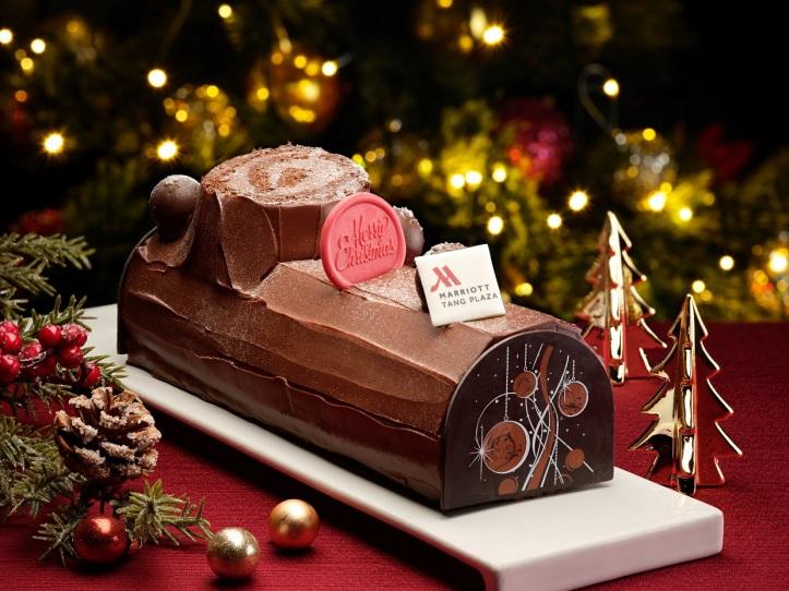 Signature Chocolate Fudge Log Cake