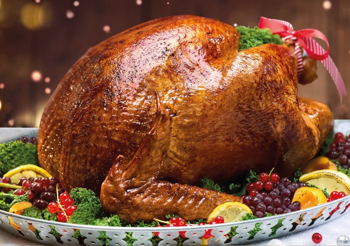 Traditional Roast Turkey with Chestnuts, Duck Foie Gras Stuffing, Cranberries & Port Wine Sauce.jpg