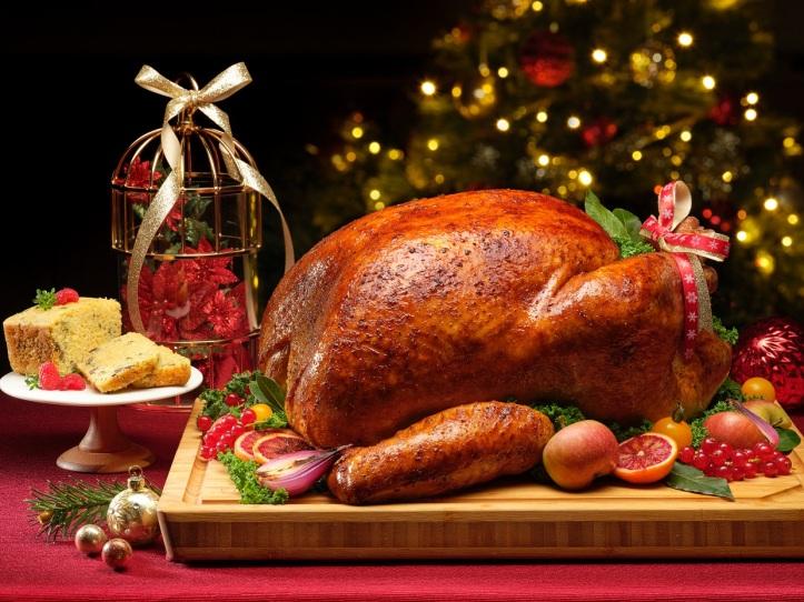 Whole Roast Turkey with Apple Cider Brine & Giblet Cornbread Loaf