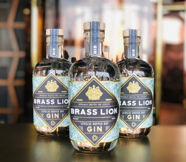 LeVeL33 Hopped Dry Gin by Brass Lion 500ml Bottles.jpg
