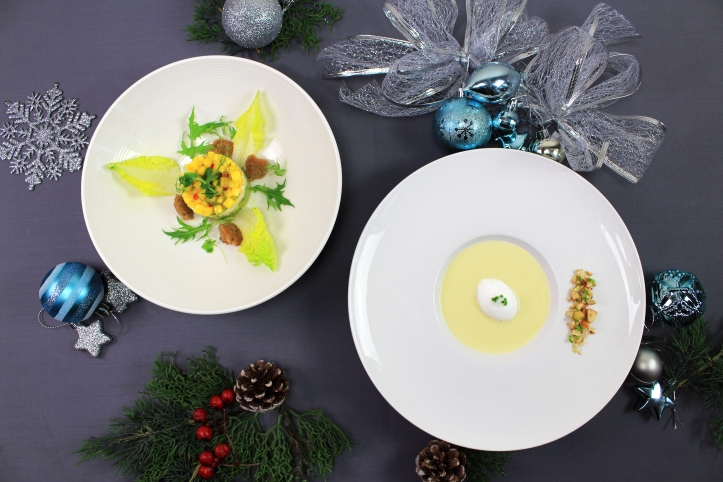 Snow Crab Salad and Roasted Chestnut & Fennel Soup