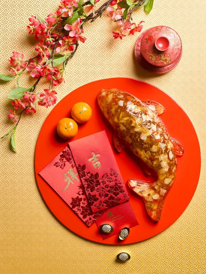 Koi Fish with Osmanthus Chestnut Cake