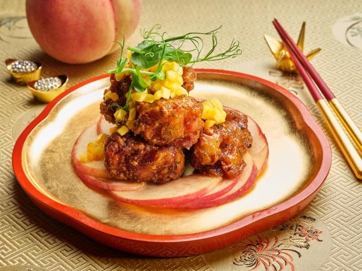 Pork Ribs with White Peach Honey Sauce