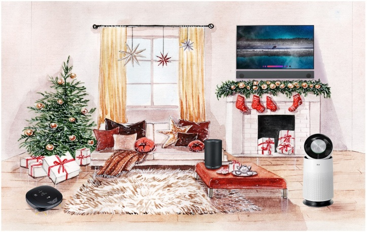 LG Digital Christmas Gift Guide Living Room 1